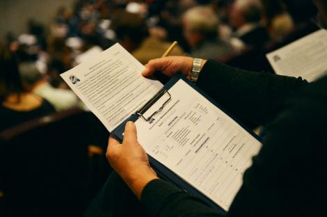 Бланк заданий Географического диктанта 2015 года. Фото: Николай Разуваев